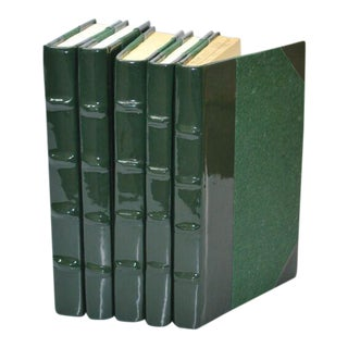 Patent Leather Ivy Green Books - Set of 5