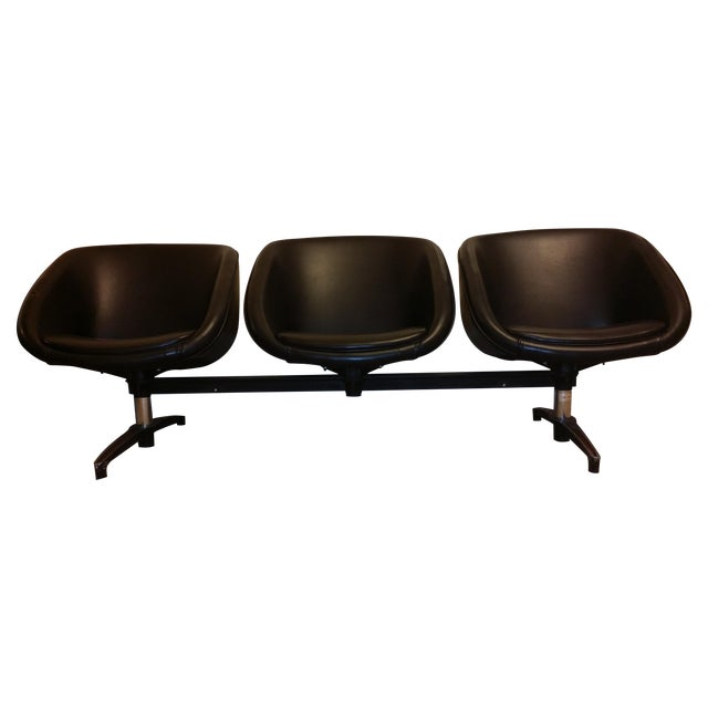 Chromcraft Vintage Modular Three-Seat Vinyl Bench - Image 1 of 7