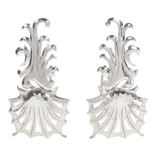 Pair of Elegant Hollywood Regency Fireplace Andirons
