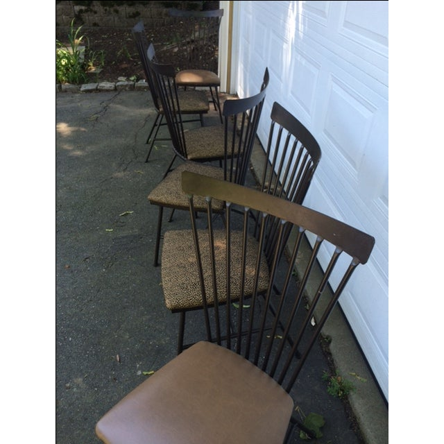 1950's Mid-Century Metal Dining Chairs - 6 - Image 10 of 11