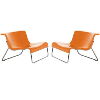Kartell Orange Form Chairs - A Pair
