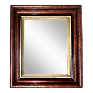 Antique Wood & Gold Mirror