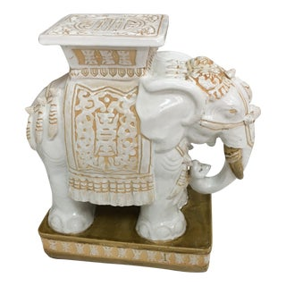 Vintage Asian Elephant Garden Stool