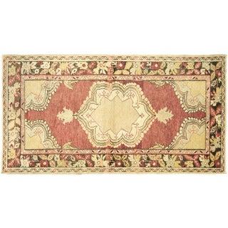 "Vintage Turkish Oushak Rug -- 3'1"" x 5'9"""