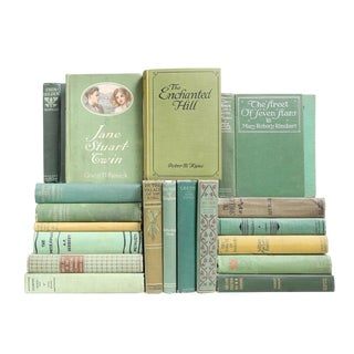Verdant Vintage Mixed Books - Set of 20