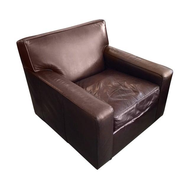 Restoration Hardware Leather Chair: Restoration Hardware Maxwell Leather Chair