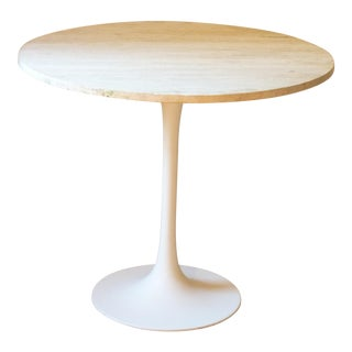 Travertine Top Tulip Table