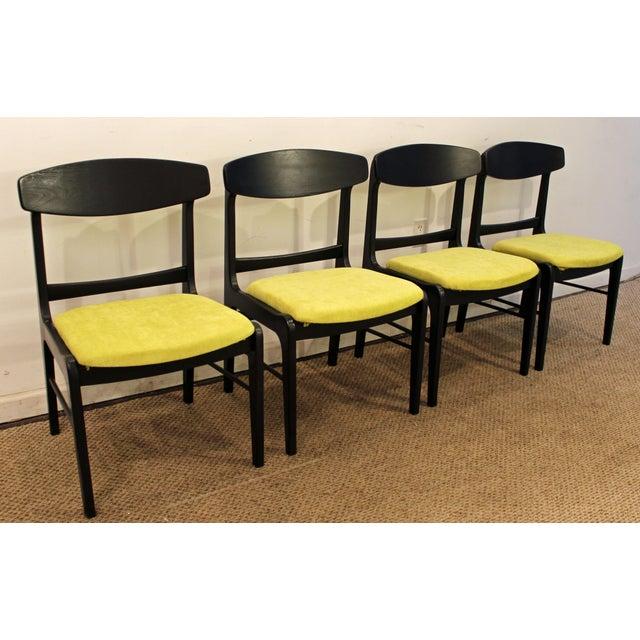 Mid-Century Danish Modern Ebonized 'Citron' Curved Back Dining Chairs - Set of 4 - Image 2 of 11