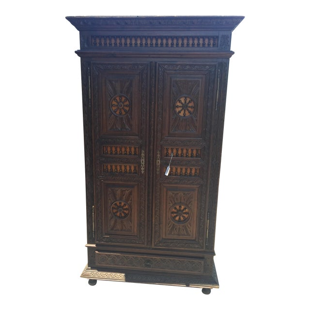 Late 1800s French Brittany Style Cabinet - Image 1 of 7