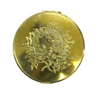 Mid-Century Brass Compact Mirror