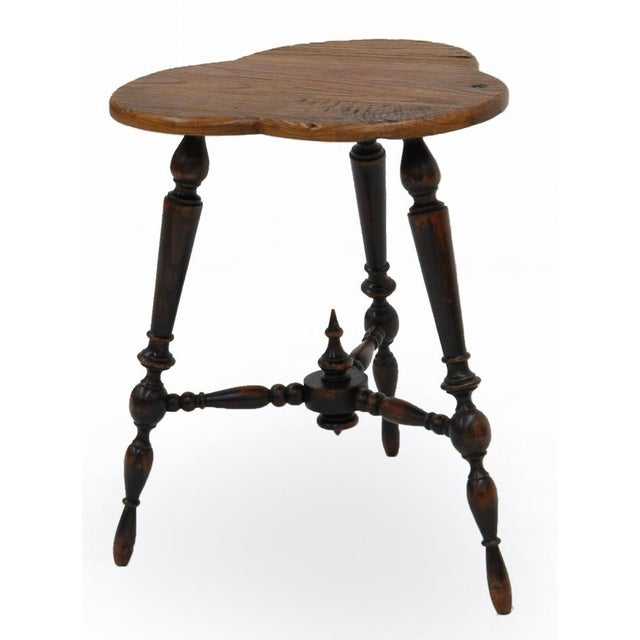 Sarreid Ltd. Turned Leg Tripod Side Table - Image 2 of 5