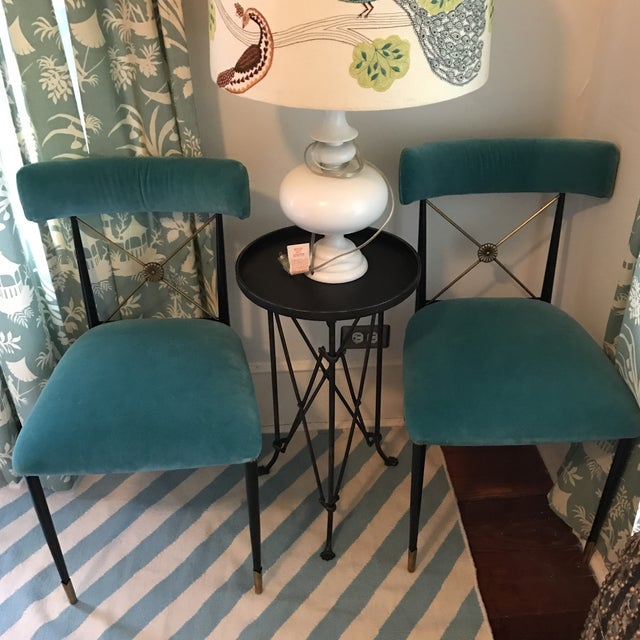 Jonathan Adler Rider Dining Chairs - A Pair - Image 6 of 7