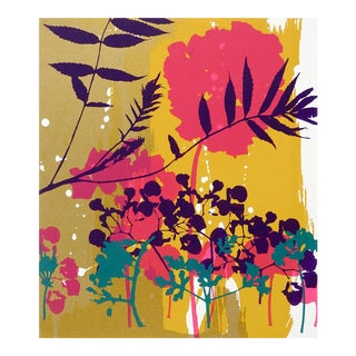 Colorful Botanical Abstract Serigraph