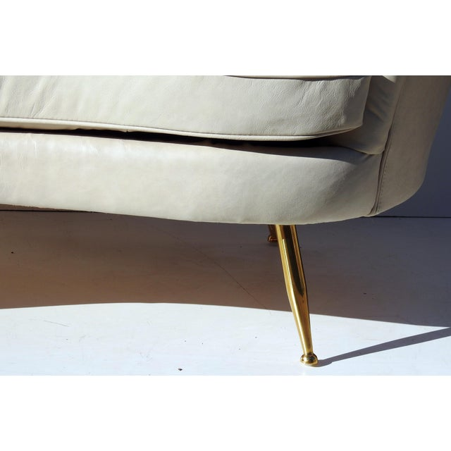 Modern Italian Leather Loveseat - Image 6 of 6