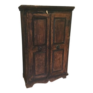 Refinished Antique Wooden Armoire