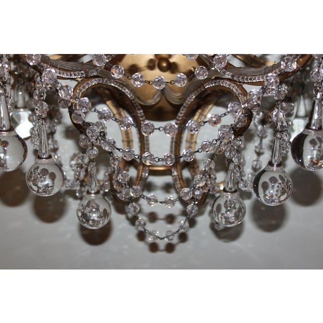 3-Light Crystal Beaded Sconces - A Pair Chairish