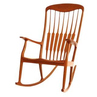 Modern Teak Rocking Chair
