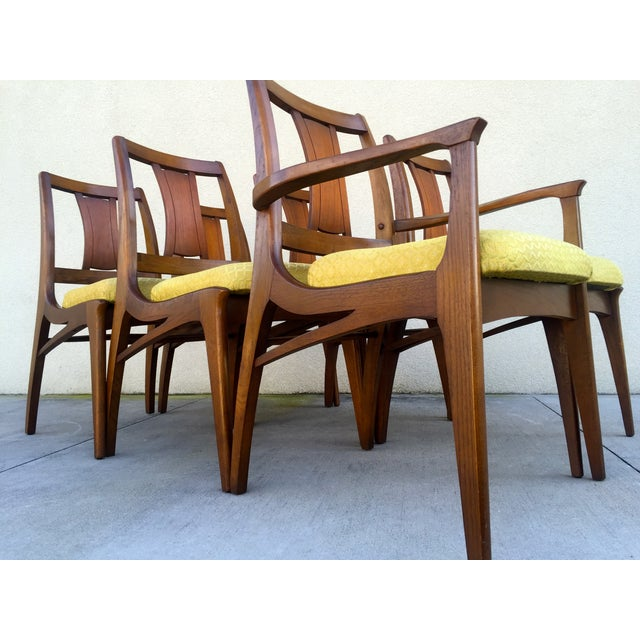Mid Century Mod Curved Tailback Dining Chairs - 6 - Image 6 of 11