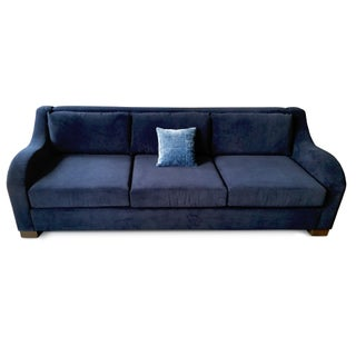 Art-Deco Inspired Sofa in Robert Allen Fabric