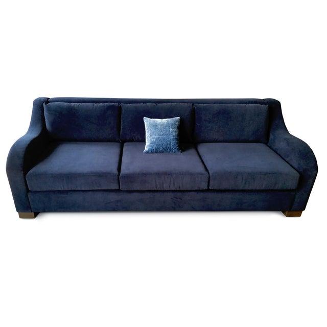 art deco inspired sofa in robert allen fabric chairish