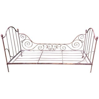 Antique French Iron Daybed