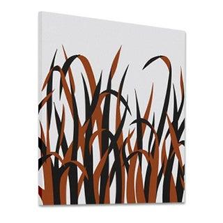 1973 Supergraphic Orange Grasses Print