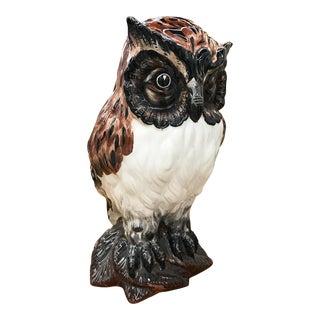 Large Vintage Italian Owl Statue