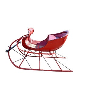 Antique Restored Red Albany Cutter Sleigh