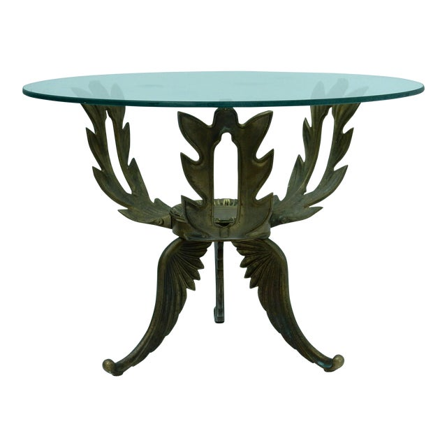 1950s V.L. Viar Bronze & Glass Coffee Table - Image 1 of 8