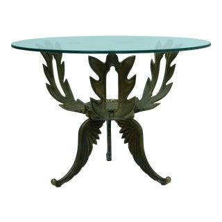 1950s V.L. Viar Bronze & Glass Coffee Table