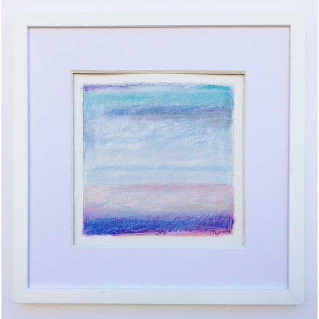 """Santa Monica Bay, Blue"" Pastel - Image 2 of 3"