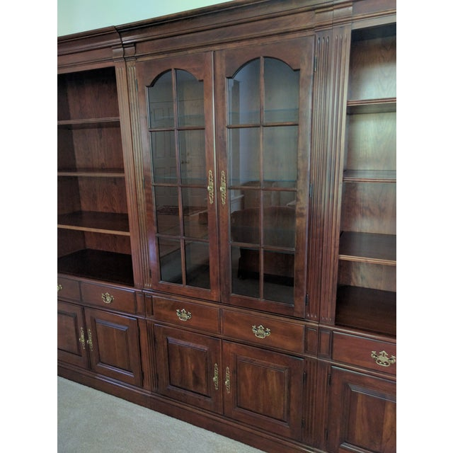 Pennsylvania House Bookcase Wall Unit - 3 Pieces - Image 5 of 10
