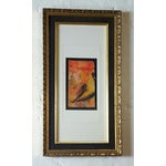 Image of Vintage Framed Freid Abstract Pastel Drawing