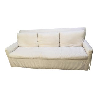 Crate & Barrel Belgian Linen Sofa