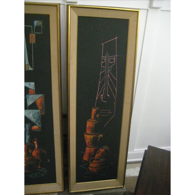 Early 1900 Original Cay Skot Paintings - A Pair - Image 6 of 10