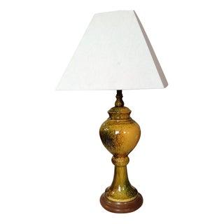 Yellow Glazed Ceramic Lamp