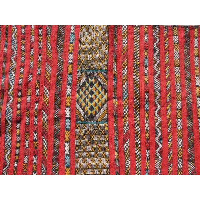 "Red Moroccan Tribal Kilim Rug - 2'7"" X 4' - Image 3 of 6"