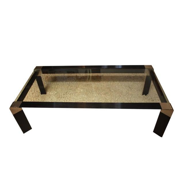 Modern Waterfall Edge Glass Black Coffee Table Chairish