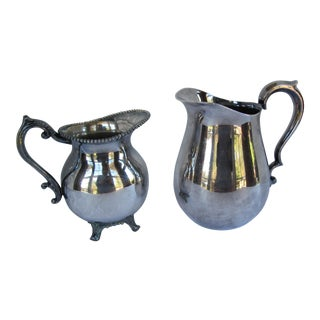 Vintage Silver-Plate Serving Pitchers - A Pair