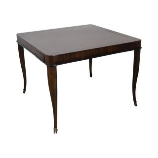 Ferguson Copeland Regency Style Leather Top Laslo Game Table