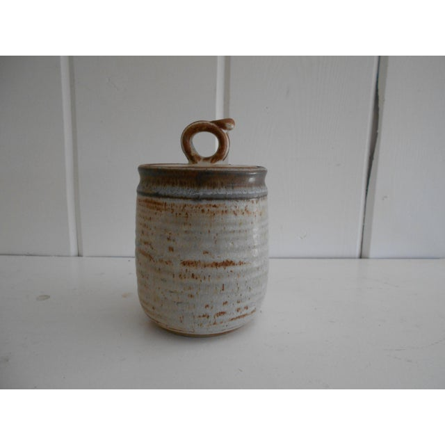 Rustic Pottery Honey Pot - Image 3 of 8