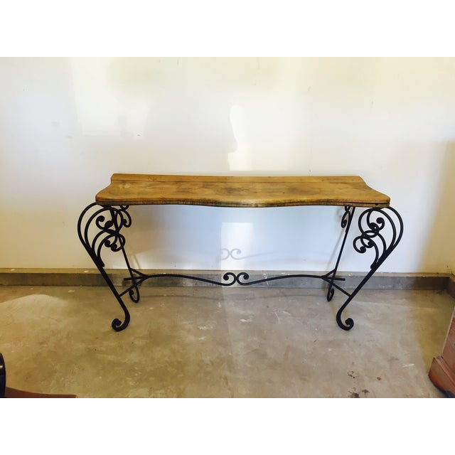 Image of Wrought Iron and Reclaimed Wood Sideboard