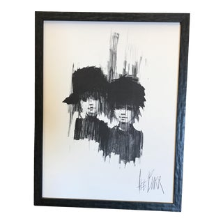 "Lee Burr Mid-Century ""Two Girls"" Print"
