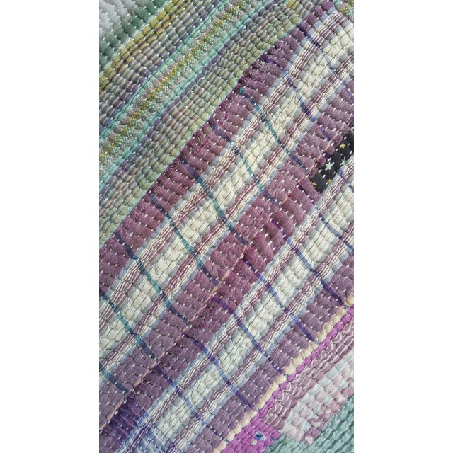Bangladeshi Hand Sewn Vintage Quilt - Image 5 of 6
