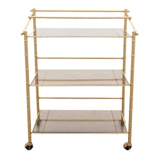 Chinoiserie Faux Bamboo Bar Cart