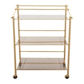Chinoiserie Faux Bamboo Bar Cart
