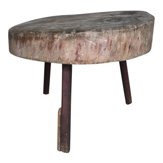 Tripod Leg Tree Stump Table