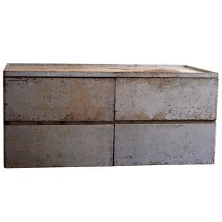 Vintage 1940s Industrial Metal Storage Cabinet