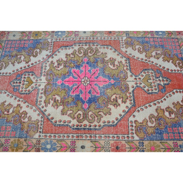 Oushak Anatolian Carpet - 4′5″ × 6′10″ - Image 5 of 6