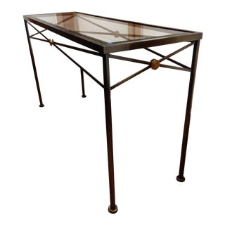 Beveled Glass Top Console